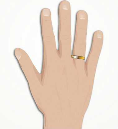 Мужская печатка на палец