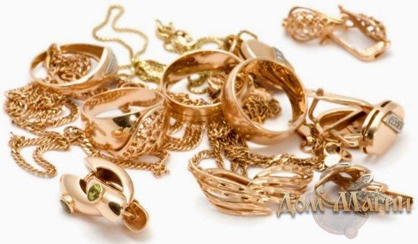 Сонник золотые украшения с камнями